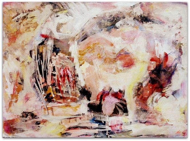 Verborgen, Abstrakt, Weiß, Acrylmalerei, Malerei