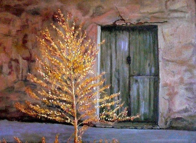 Einkehr, Herbst, Tor, Glanz, Baum, Mauer
