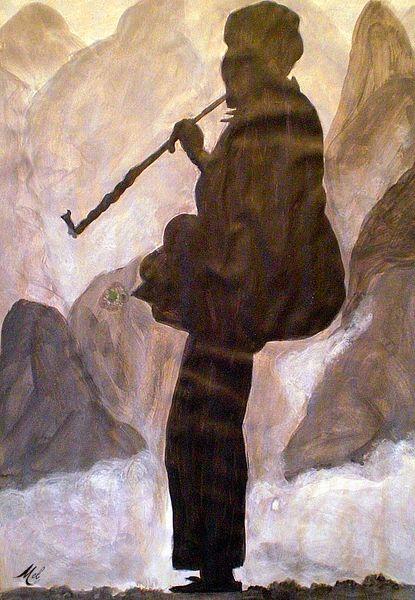 Mann, Silhouette, Schwarz weiß, Pfeife, Kultur, Berge