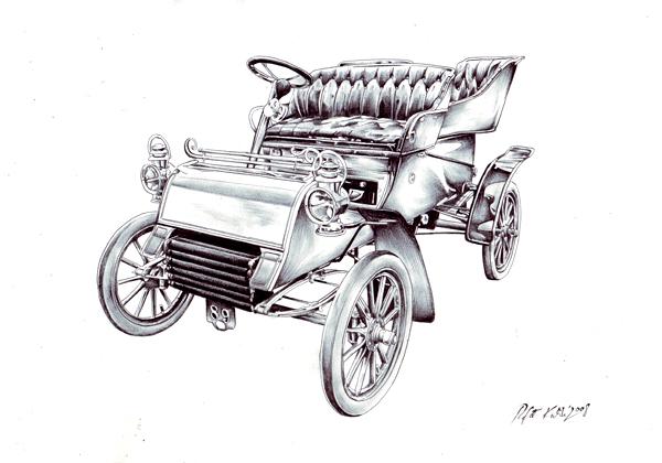 Ford, Auto, Alt, Zeichnungen