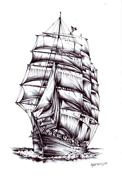 Segelschiff bleistiftzeichnung  Meer Zeichnung - 290 Bilder und Ideen - gezeichnet - auf KunstNet