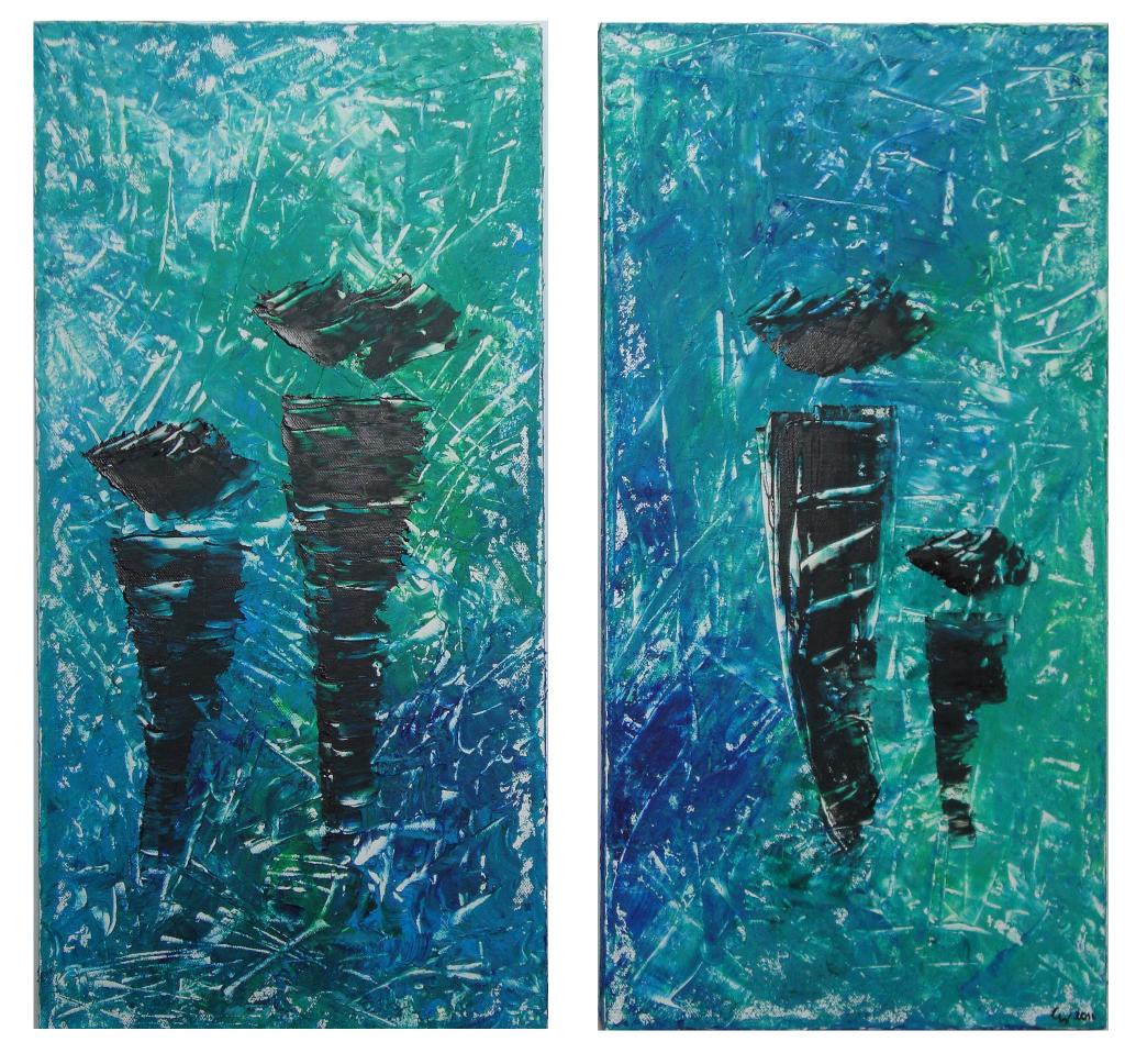 bild - abstrakt, acrylmalerei, spachtel, malerei von abstrakti bei