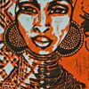 Linoldruck, Afrika, Linolcut, Frau