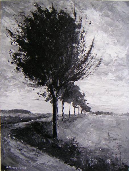 Arrangement, Landschaft, Gemälde, Malerei