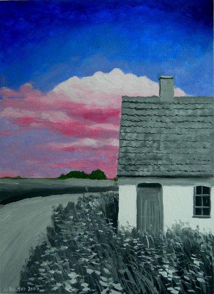 Arrangement, Gemälde, Fusion, Landschaft, Malerei