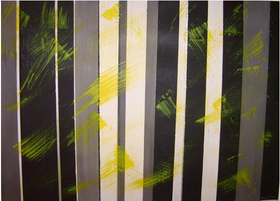 Stripes - Schwarz weiß, Streifen, Moderne einrichtung, Gelb von ...