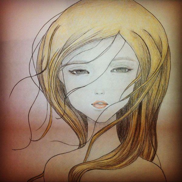 Mädchen, Malerei, Menschen
