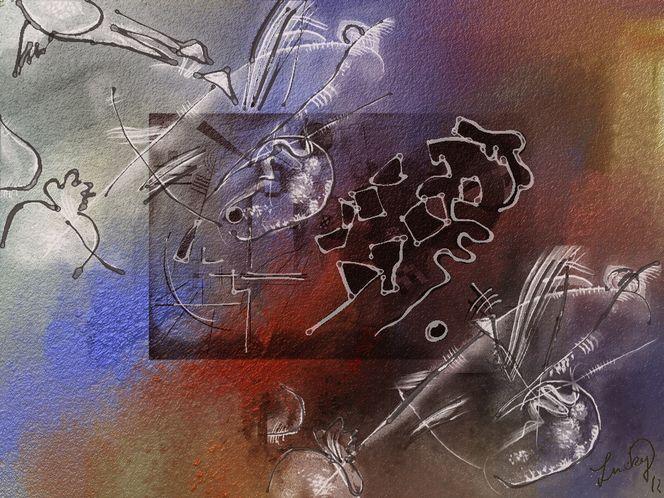 Farben, Formen, Abstrakt, Digitale malerei