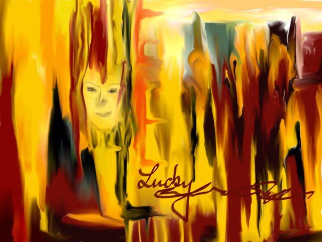 Abstrakt, Gesicht, Malerei