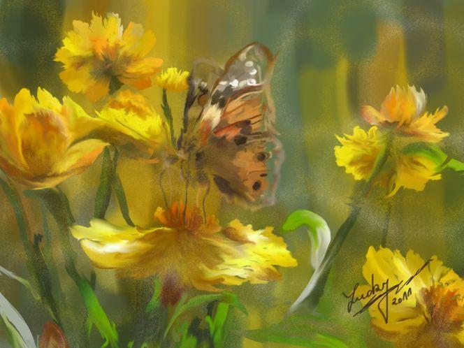 Blütennahrung, Malerei, Blumen