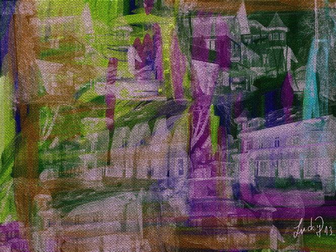 Bunt, Häuser, Malerei, Welt,