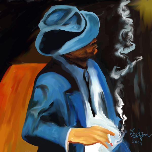 Zigarette, Malerei, Menschen,