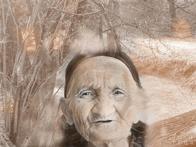 Alter, Gesicht, Malerei