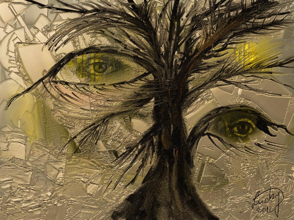 Abstrakt Der wachsame Baum - Wachsam, Baum, Abstrakt ...