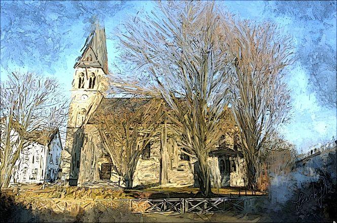 Dorfkirche, Malerei,