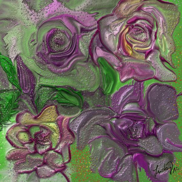 Metallfarbe, Rose, Blumen