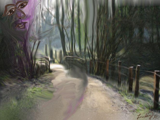 Waldgesicht, Malerei