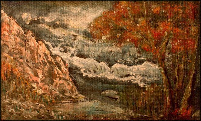Wasser, Preßspanplatte, Ölmalerei, Baum, Prima, Sturm