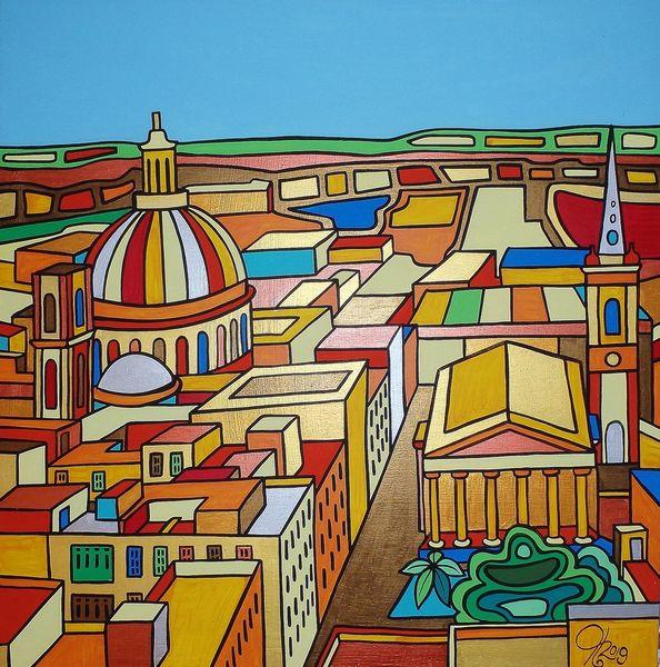 Kirche, Valletta, Malta, Malerei