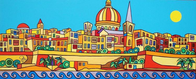 Sliema, Malta, Valletta, Malerei, Wild