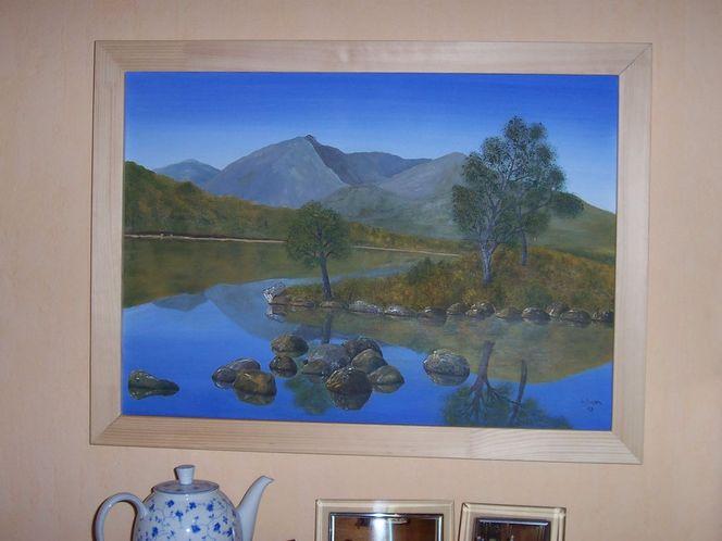 Blau, Schottland, Ruhe, See, Malerei, Spiegelung