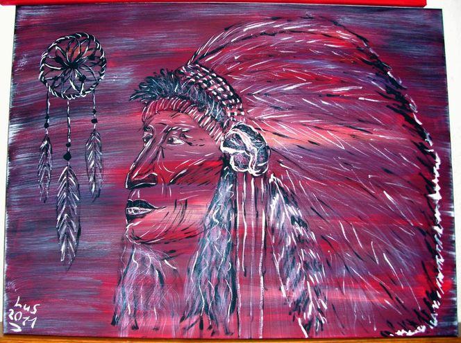 Farben, Traum, Indisch, Gemälde, Malerei