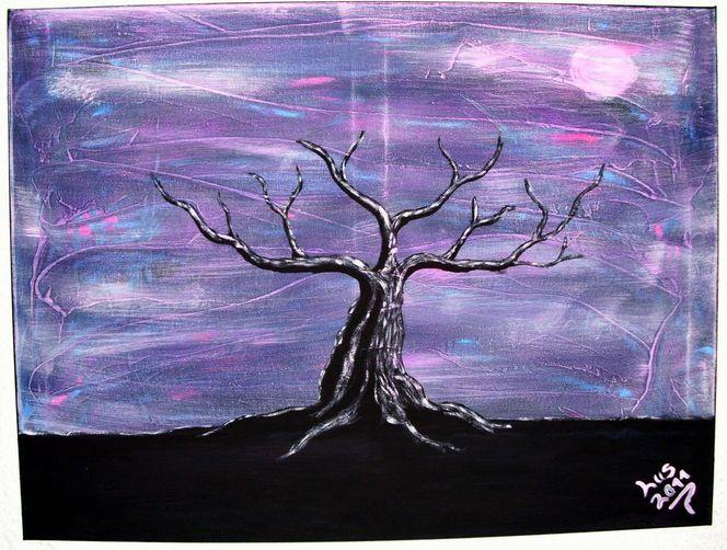 Farben, Gemälde, Baum, Malerei