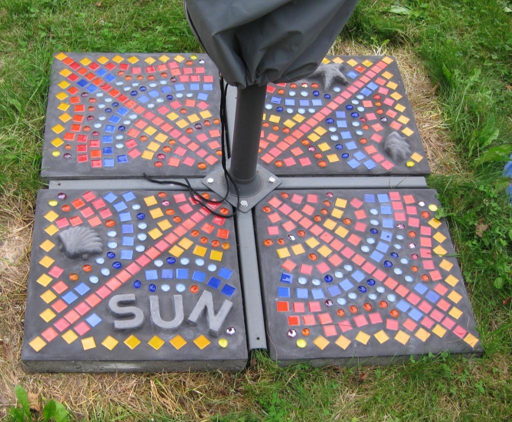 Bild mosaik garten sonne kunsthandwerk von brittami bei kunstnet - Garten mosaik ...