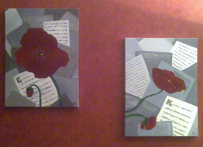 Malerei, Meine bilder, Mohnblumen