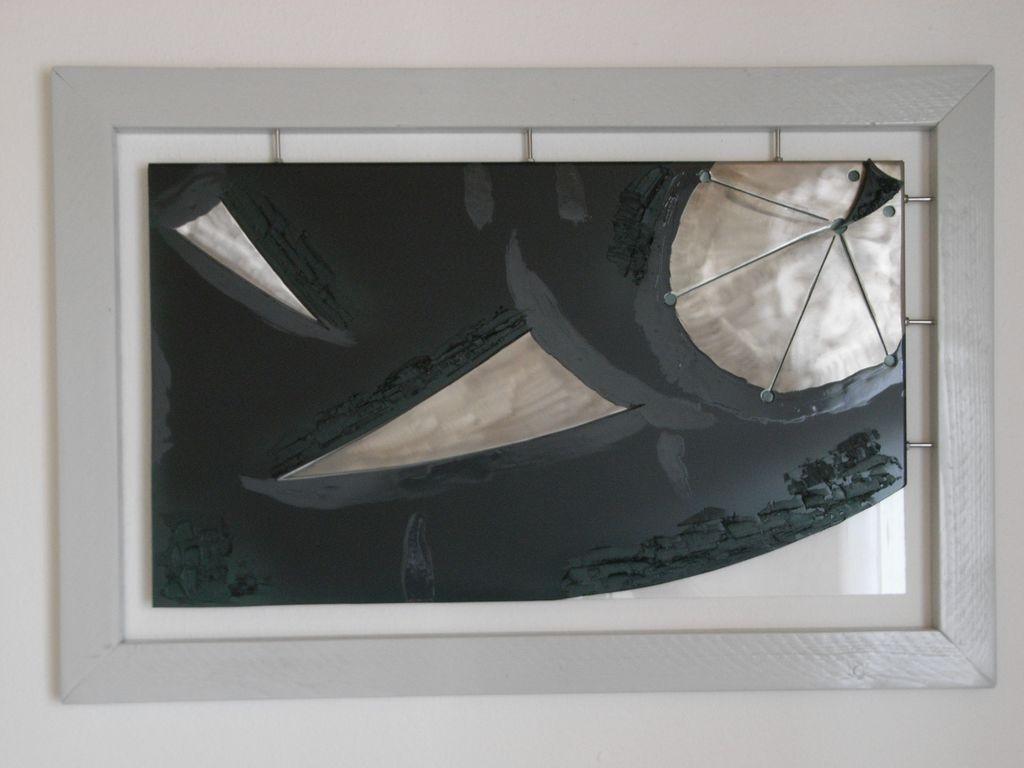 bild metall modern abstrakt mischtechnik von g a s t. Black Bedroom Furniture Sets. Home Design Ideas