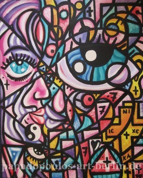 Abstrakt, Liebe, Augen, Kuss, Frau, Licht