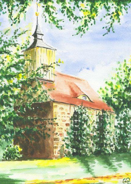 Dorfkirche, Aquarell