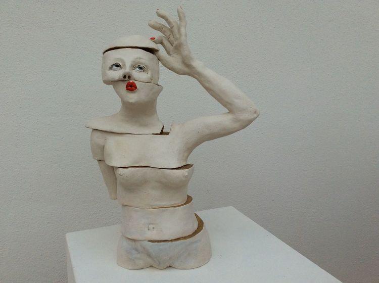 Figur, Fingerspitze, Frau, Konzentration, Puzzle, Stufe
