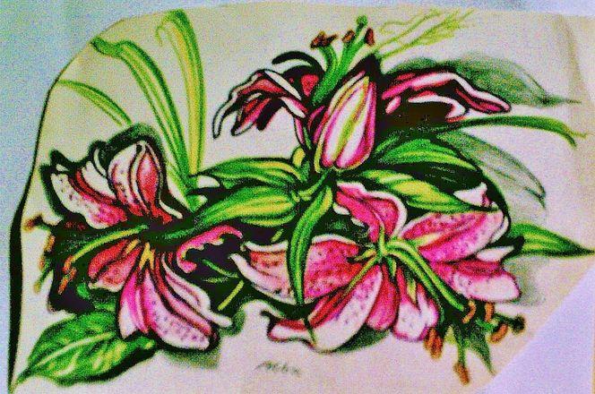 Lilien, Malerei