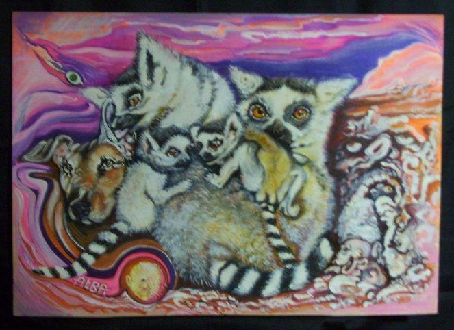 Catter, Geist, Tiere, Hund, Horizont, Malerei