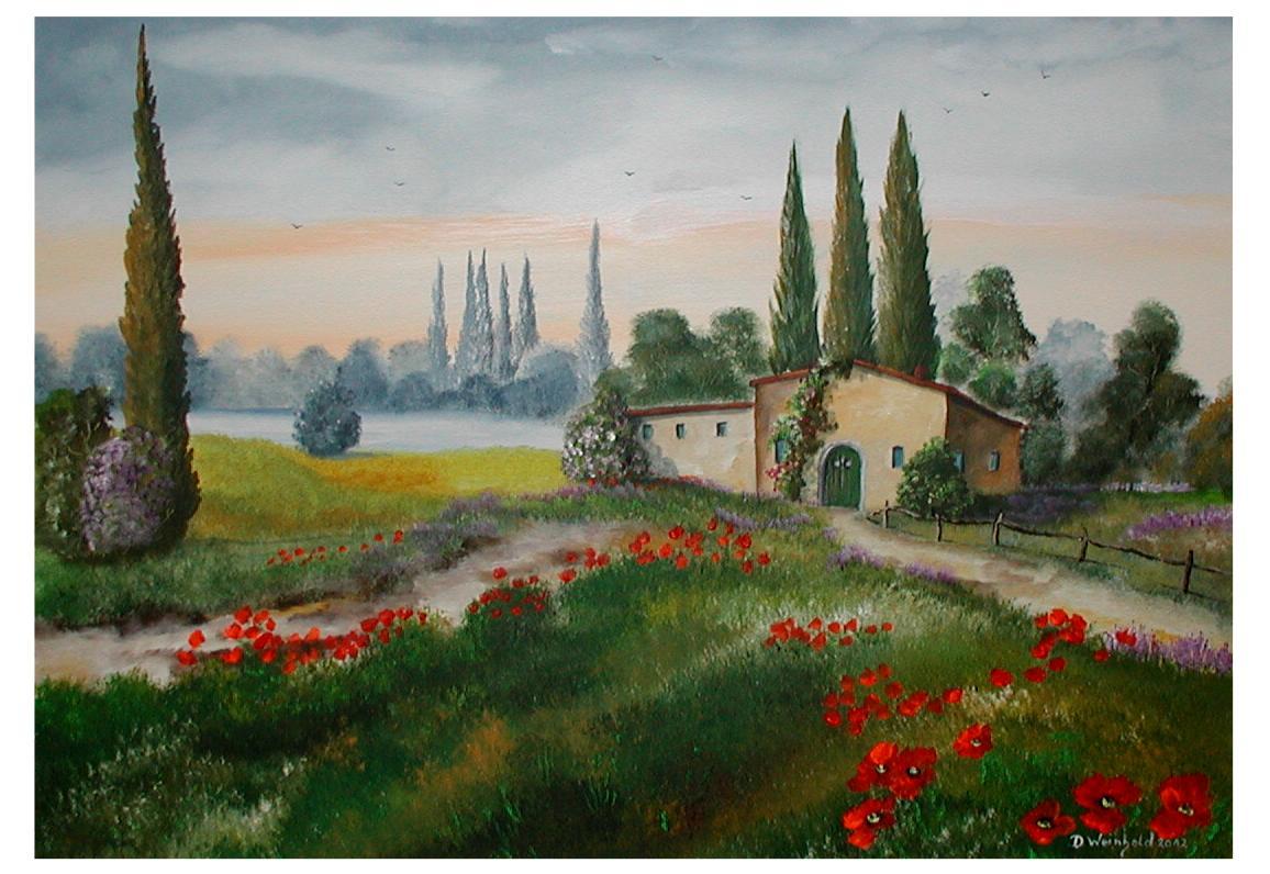 Ferienhaus in der Toscana-Toskana°° - Mohn, Blumen ...