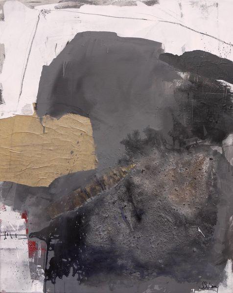 Struktur, Weiß, Acrylmalerei, Beton, Grau, Mischtechnik