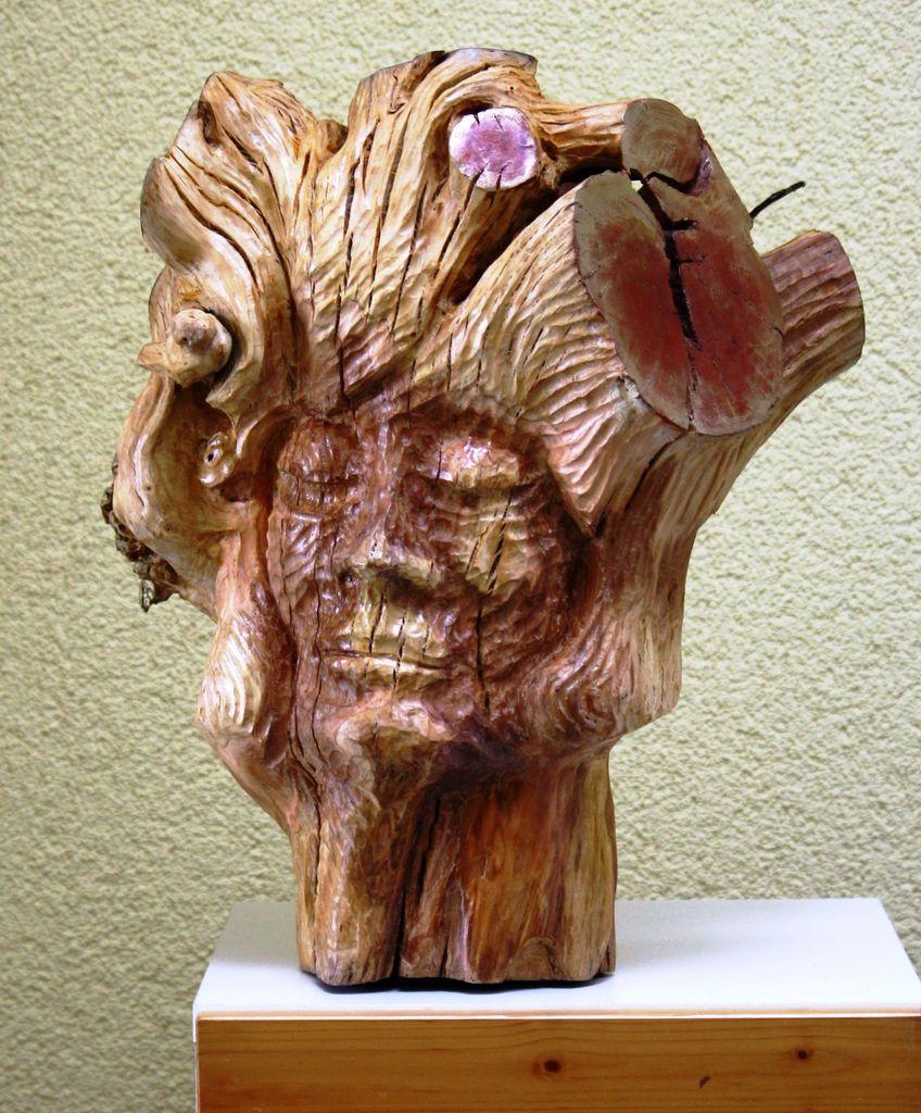 Bild: Alter, Pflaumenbaumstumpf, Skurrile gedanken, Gesichtsknochen ...