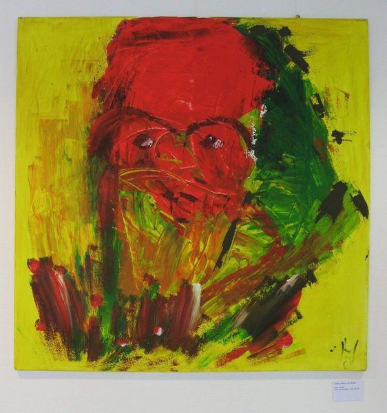 Brille, Acrylmalerei, Malerei, Mann
