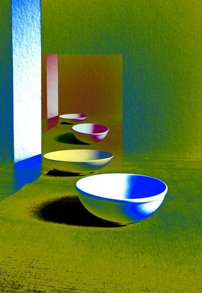 Fotografie, Perspektive, Stillleben, Farben, Experimentell, Schale