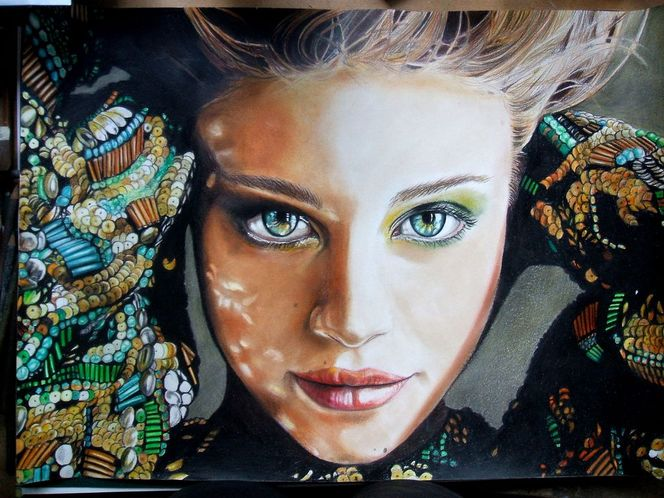 Blick, Portrait, Augen, Frau, Gesicht, Jung