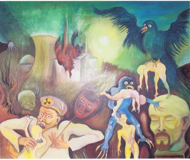 Mutant, Fukushima, Malerei,