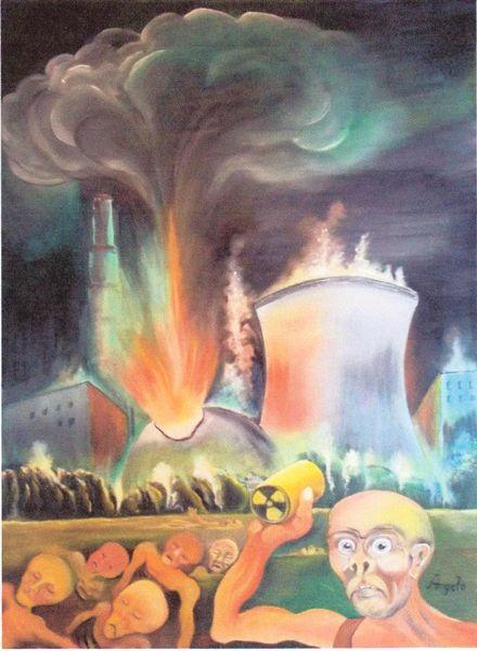 Malerei, Atom, Anklage, Verantwortung, Mystischer realismus, Fukushima