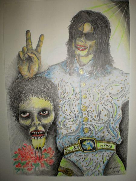 Still alive, Portrait, Michael jackson, Victory, Thriller, Malerei