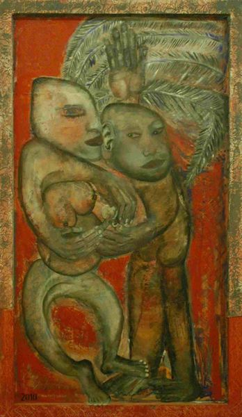 Menschen, Körper, Ölmalerei, Abstrakt, Malerei