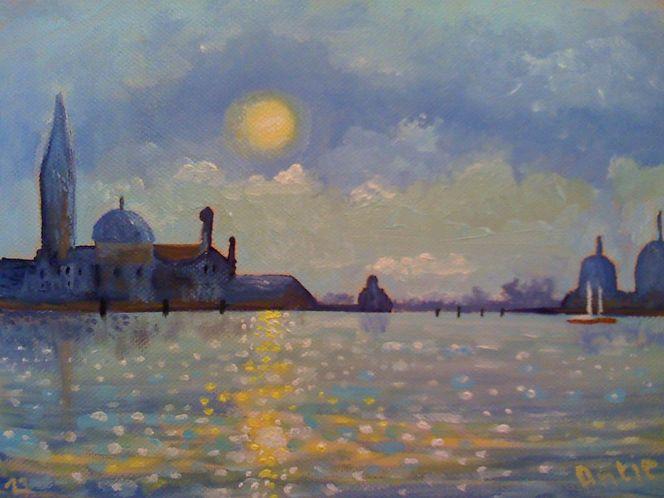 Venedig, Sonnenaufgang, Lagune, Stadt, Wasser, Morgen