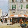 Frankreich, Gaststätte, Menschen, Sommer