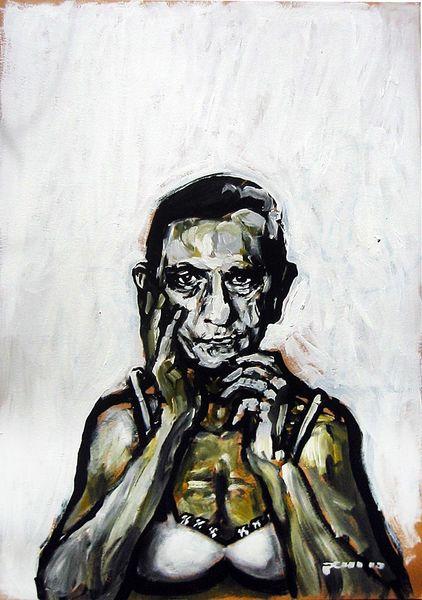Malerei, Ausstellung, Gesicht, Goebbels, Menschen, Mann