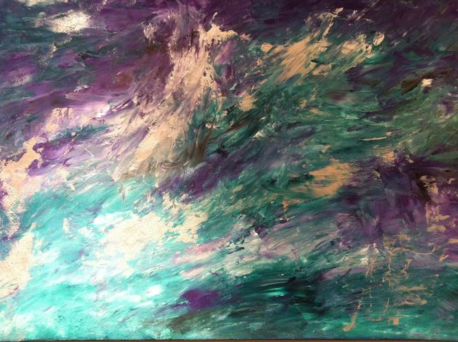 Acrylmalerei, Spachteltechnik, Abstrakt, Malerei