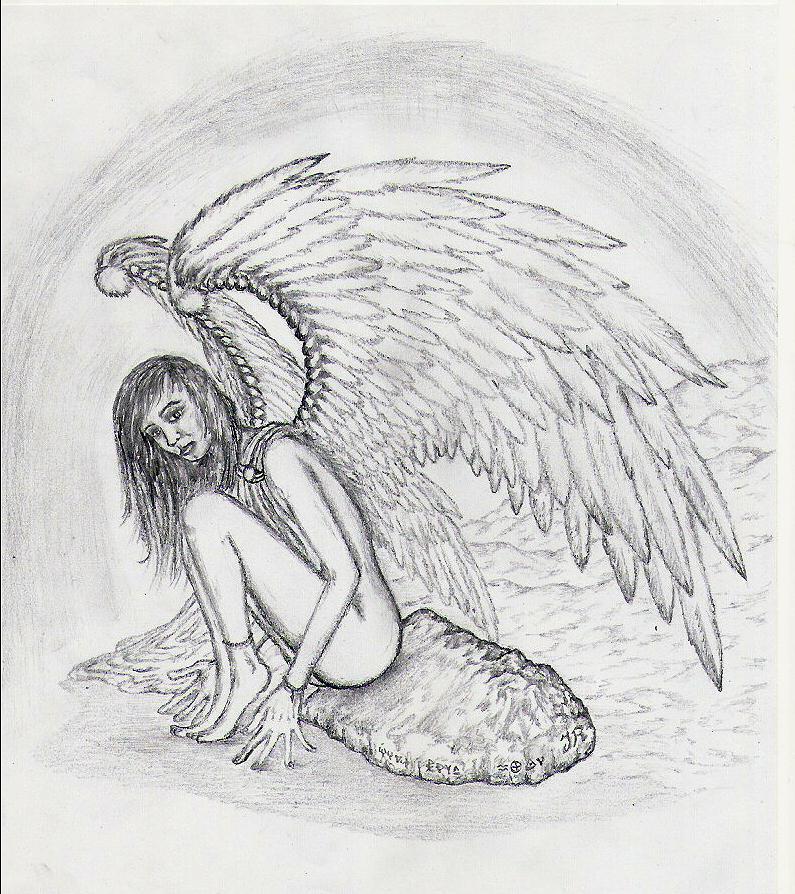 Bleistiftzeichnung Engel 72 Bilder Und Ideen Gezeichnet Auf